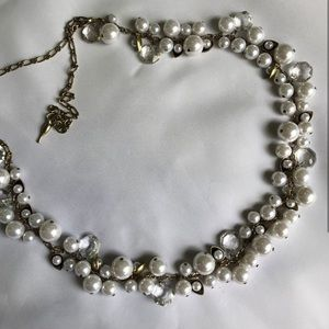 Chloe + Isabel Pearl & Crystal Drop Long Necklace
